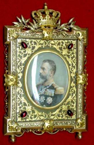 Miniatură; Regele Carol I - Muzeul Naţional de Istorie a României - BUCUREŞTI (Patrimoniul Cultural National Mobil din Romania. Ordin de clasare: 2679/11.06.2003 - Tezaur)