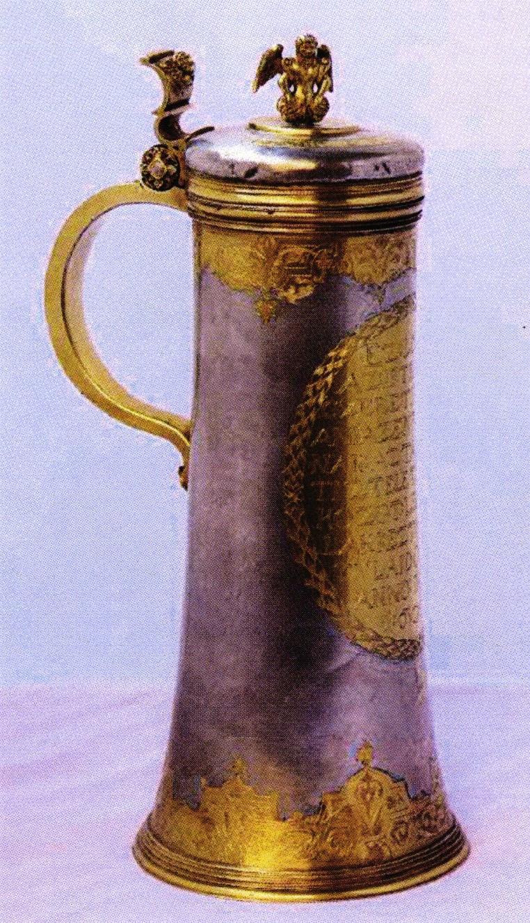 Cană de împărtăşanie - Parohia Unitariană Cluj-Napoca - CLUJ (Patrimoniul Cultural National Mobil din Romania. Ordin de clasare: 2489/25.07.2017 - Tezaur)