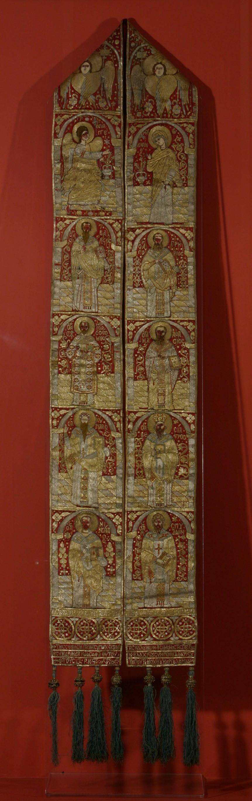Epitrahil - Muzeul Naţional de Artă al României - BUCUREŞTI (Patrimoniul Cultural National Mobil din Romania. Ordin de clasare: 2029/26.01.2015 - Tezaur)