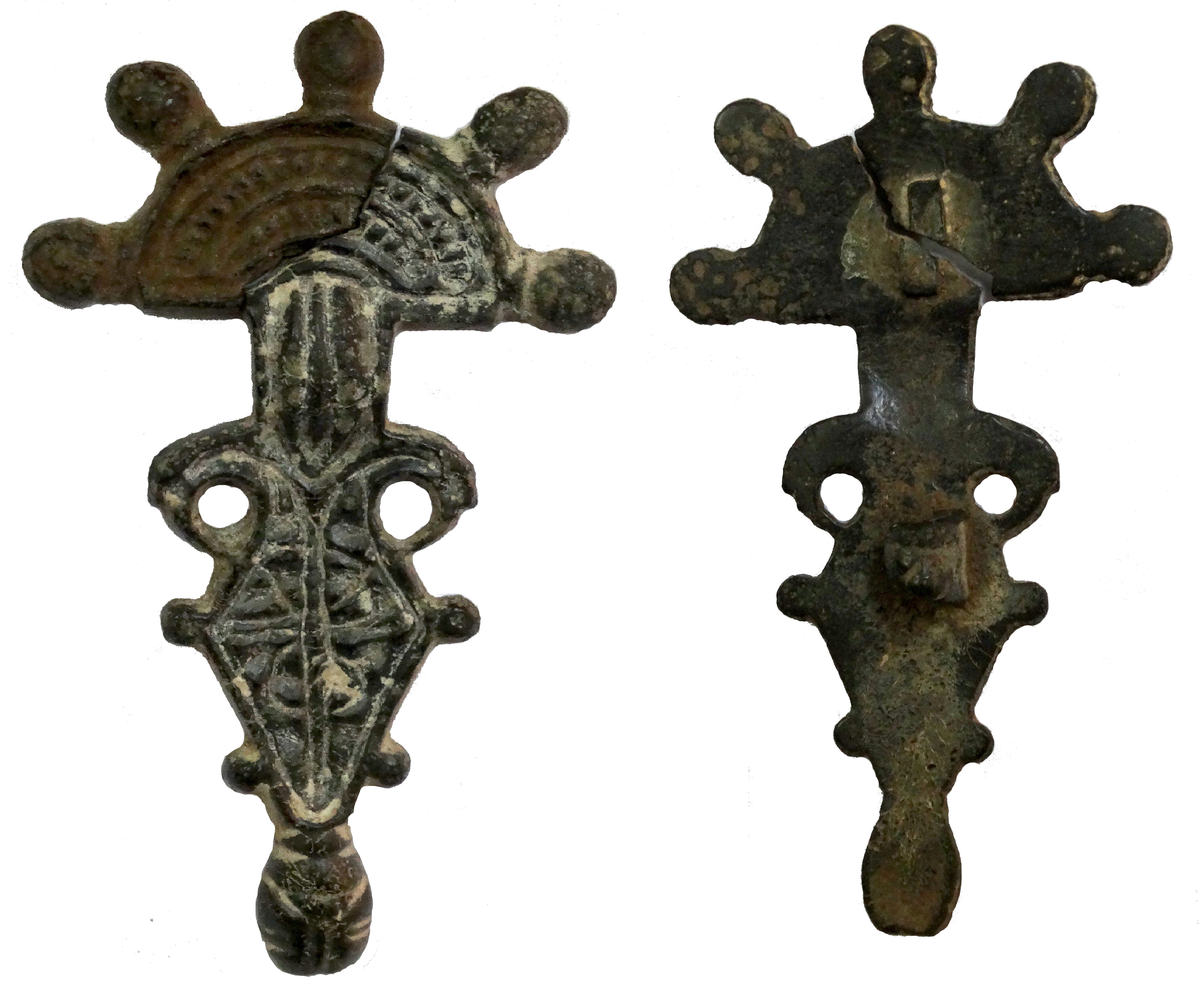 """Fibulă """"digitată"""" - Muzeul Judeţean Argeş - PITEŞTI (Patrimoniul Cultural National Mobil din Romania. Ordin de clasare: 2857/20.12.2017 - Fond)"""