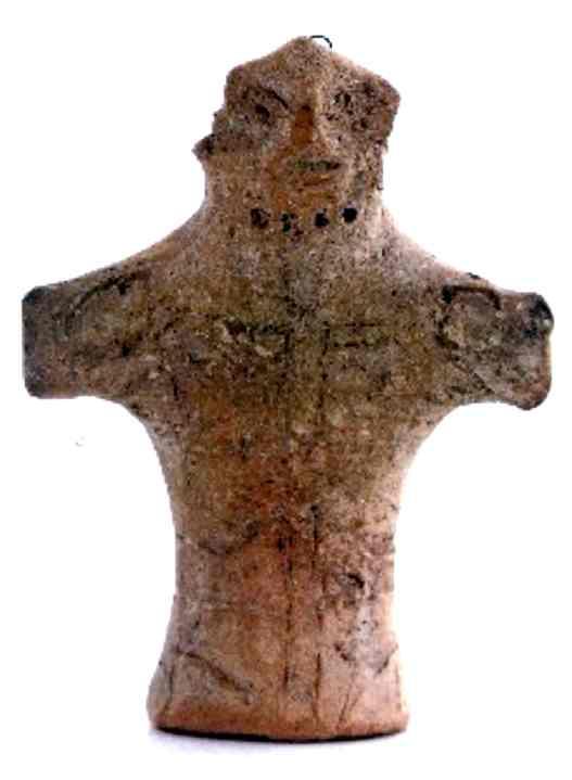 statuetă - Muzeul Civilizaţiei Gumelniţa - OLTENIŢA (Patrimoniul Cultural National Mobil din Romania. Ordin de clasare: 2279/22.04.2008 - Tezaur)