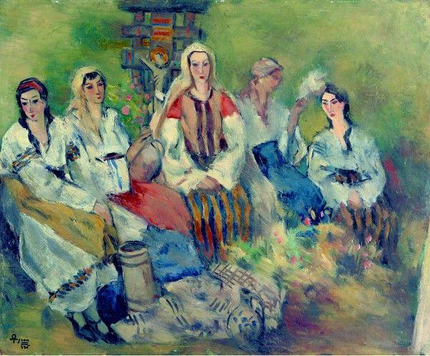 Pictură de şevalet - Theodorescu-Sion, Ion; Ţărănci la portiţă - Colecţii particulare (Patrimoniul Cultural National Mobil din Romania. Ordin de clasare: 2303/27.04.2016 - Fond)