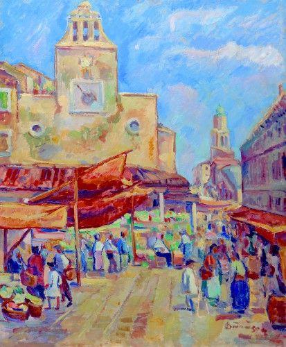 Pictură de şevalet - Dărăscu, Nicolae; Piaţă la Veneţia - Colecţii particulare (Patrimoniul Cultural National Mobil din Romania. Ordin de clasare: 2303/27.04.2016 - Fond)