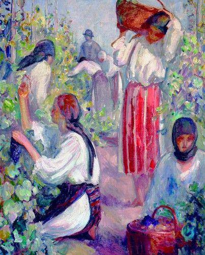 Pictură de şevalet - Mutzner, Samuel; La culesul viei - Colecţii particulare (Patrimoniul Cultural National Mobil din Romania. Ordin de clasare: 2303/27.04.2016 - Fond)