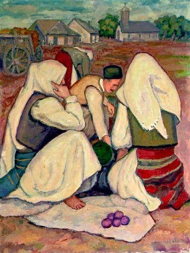 Pictură de şevalet - Ghiaţă, Dimitrie; La târg - Colecţii particulare (Patrimoniul Cultural National Mobil din Romania. Ordin de clasare: 2303/27.04.2016 - Fond)