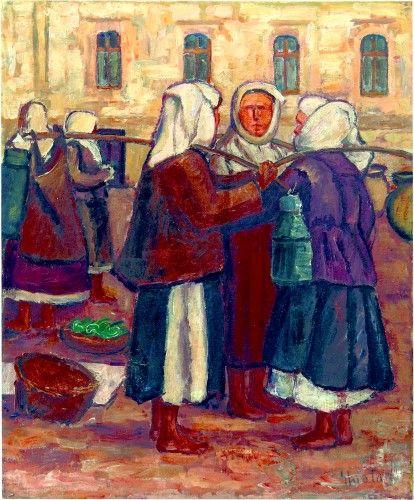 Pictură de şevalet - Ghiaţă, Dimitrie; Ţărănci la piaţă - Colecţii particulare (Patrimoniul Cultural National Mobil din Romania. Ordin de clasare: 2303/27.04.2016 - Fond)
