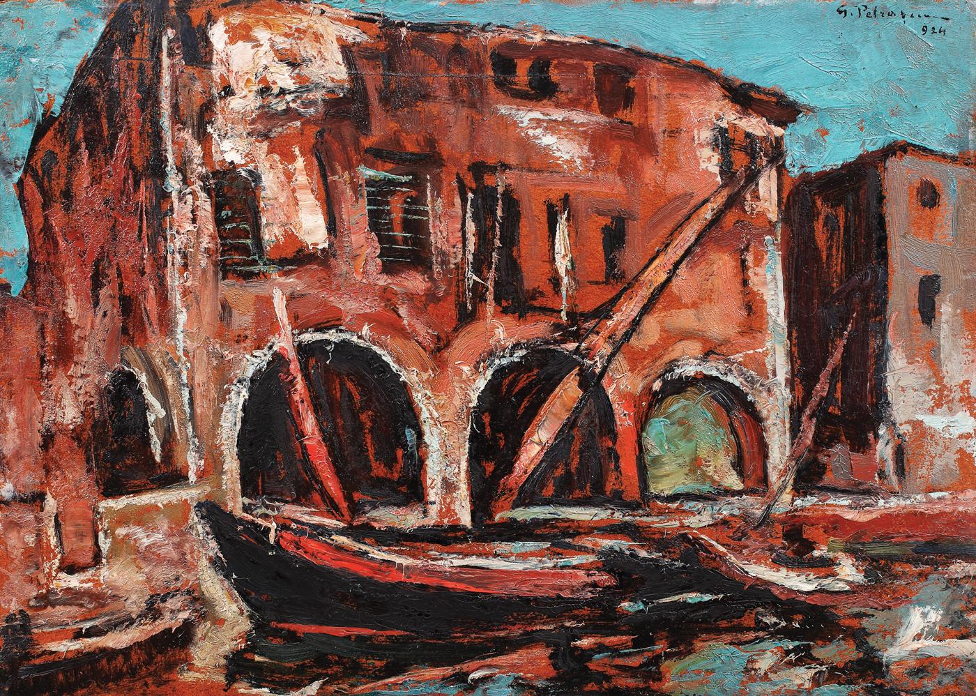 Pictură de şevalet - Petraşcu, Gheorghe; Chioggia - Colecţii particulare (Patrimoniul Cultural National Mobil din Romania. Ordin de clasare: 2483/12.06.2018 - Tezaur)
