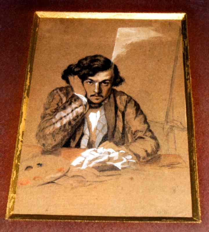 Grafică - Aman, Theodor; Autoportret - Direcţia Judeţeană pentru Cultură - GIURGIU (Patrimoniul Cultural National Mobil din Romania. Ordin de clasare: 2275/19.04.2008 - Fond)