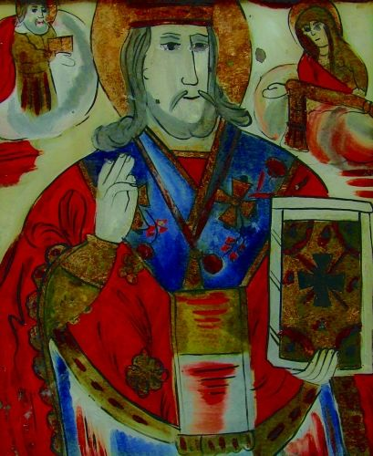 Icoană - Prodan, Maria; Sfântul Nicolae - Muzeul Naţional al Unirii - ALBA IULIA (Patrimoniul Cultural National Mobil din Romania. Ordin de clasare: 2113/04.03.2011 - Fond)
