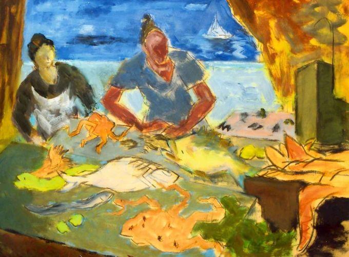 Pictură - Catargi, Henri; Compoziţie II - Muzeul Judeţean Argeş - PITEŞTI (Patrimoniul Cultural National Mobil din Romania. Ordin de clasare: 2467/09.08.2007 - Tezaur)