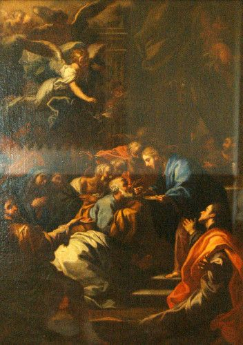 Pictură - Anonim italian (atribuit lui Francesco Trevisani); Împărtăşania apostolilor - Muzeul Ţării Crişurilor - ORADEA (Patrimoniul Cultural National Mobil din Romania. Ordin de clasare: 2157/13.03.2015 - Fond)