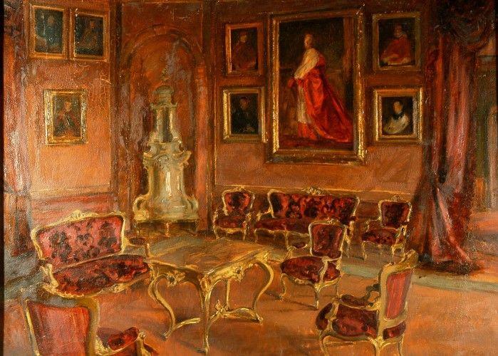 Pictură - Macalik, Alfred; Interior roşu - Muzeul Ţării Crişurilor - ORADEA (Patrimoniul Cultural National Mobil din Romania. Ordin de clasare: 2157/13.03.2015 - Fond)