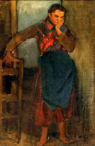 Pictură - Koroknai, Otto; Fată tristă - Muzeul Ţării Crişurilor - ORADEA (Patrimoniul Cultural National Mobil din Romania. Ordin de clasare: 2157/13.03.2015 - Fond)