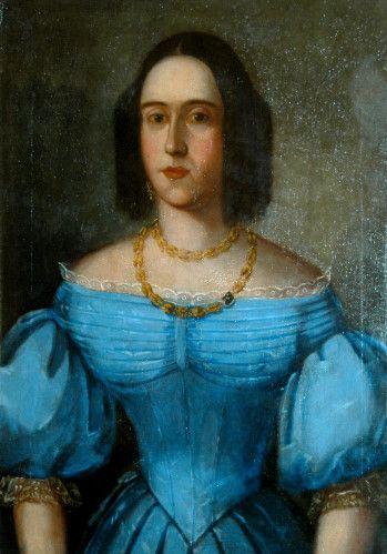 Pictură - Anonim austriac; Portret de femeie - Muzeul Ţării Crişurilor - ORADEA (Patrimoniul Cultural National Mobil din Romania. Ordin de clasare: 2157/13.03.2015 - Fond)