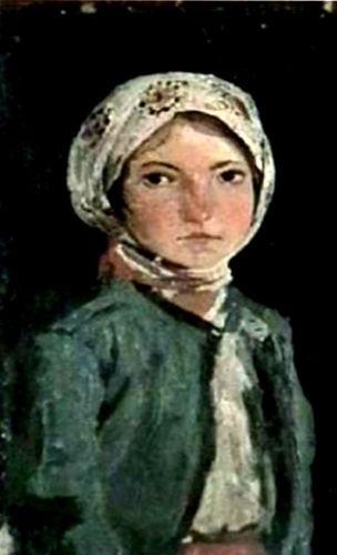 pictură - Andreescu, IoanPortret de fată - Muzeul de Artă - IAŞI (Patrimoniul Cultural National Mobil din Romania. Ordin de clasare: 2531/12.10.2012 - Tezaur)