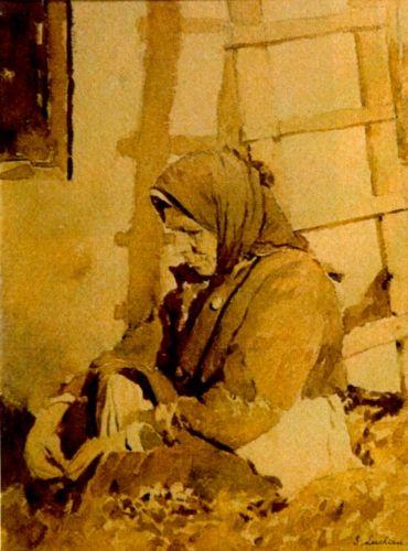 Pictură - Luchian, Ştefan; Pe prispă - Muzeul de Artă - IAŞI (Patrimoniul Cultural National Mobil din Romania. Ordin de clasare: 2114/29.03.2010 - Tezaur)