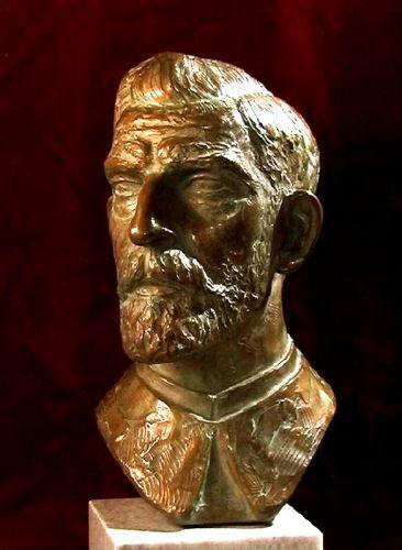 sculptură; Regele Ferdinand al României - Muzeul Naţional Peleş - SINAIA (Patrimoniul Cultural National Mobil din Romania. Ordin de clasare: 2680/11.06.2003 - Tezaur)