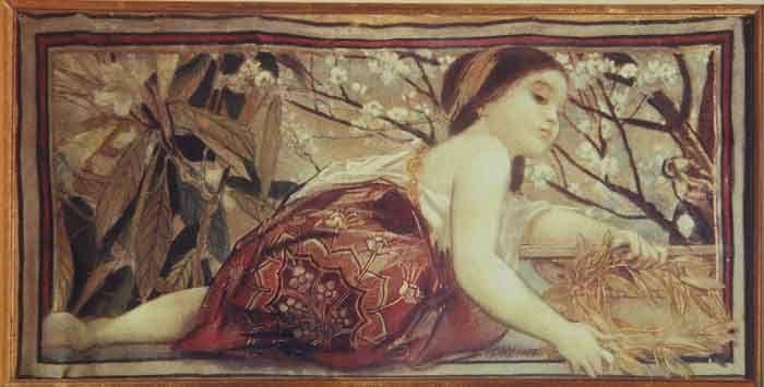 Pictură - Klimt, Gustav; Primăvara - Muzeul Naţional Peleş - SINAIA (Patrimoniul Cultural National Mobil din Romania. Ordin de clasare: 2680/11.06.2003 - Tezaur)