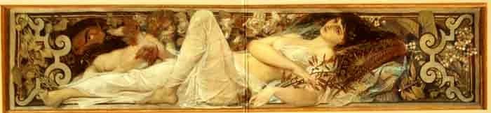 Pictură - Klimt, Gustav; Muza Thalia - Muzeul Naţional Peleş - SINAIA (Patrimoniul Cultural National Mobil din Romania. Ordin de clasare: 2680/11.06.2003 - Tezaur)