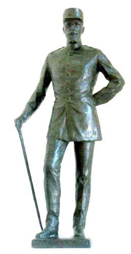Sculptură - Han, Oscar; Regele Carol I al României - Muzeul Naţional Peleş - SINAIA (Patrimoniul Cultural National Mobil din Romania. Ordin de clasare: 2680/11.06.2003 - Tezaur)