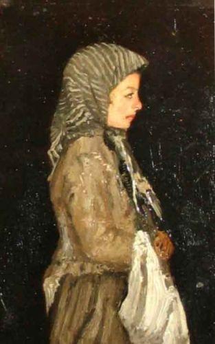 pictură - Andreescu, IoanPortret de fetiţă (Ţărăncuţă cu traistă) - Muzeul de Artă - TULCEA (Patrimoniul Cultural National Mobil din Romania. Ordin de clasare: 2682/03.12.2008 - Tezaur)