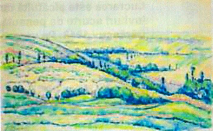 Pictură - Dărăscu, Nicolae; Peisaj din Vlaici (Peisaj cu dealuri) - Muzeul de Artă - TULCEA (Patrimoniul Cultural National Mobil din Romania. Ordin de clasare: 2216/02.06.2009 - Fond)