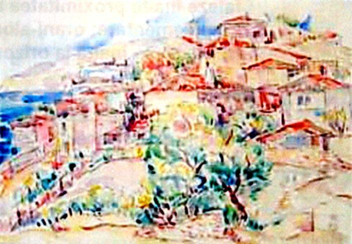 Pictură - Dărăscu, Nicolae; Peisaj dobrogean (Peisaj citadin oriental) - Muzeul de Artă - TULCEA (Patrimoniul Cultural National Mobil din Romania. Ordin de clasare: 2216/02.06.2009 - Tezaur)