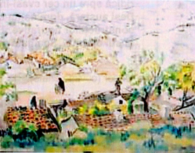 Pictură - Iser, Iosif; Peisaj dobrogean (Peisaj oriental) - Muzeul de Artă - TULCEA (Patrimoniul Cultural National Mobil din Romania. Ordin de clasare: 2216/02.06.2009 - Fond)