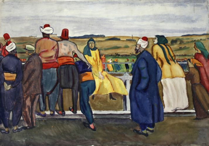 Pictură - Iser, Iosif; Curse de cai în Dobrogea (Scenă de gen în peisaj) - Muzeul de Artă - TULCEA (Patrimoniul Cultural National Mobil din Romania. Ordin de clasare: 2466/03.11.2009 - Tezaur)