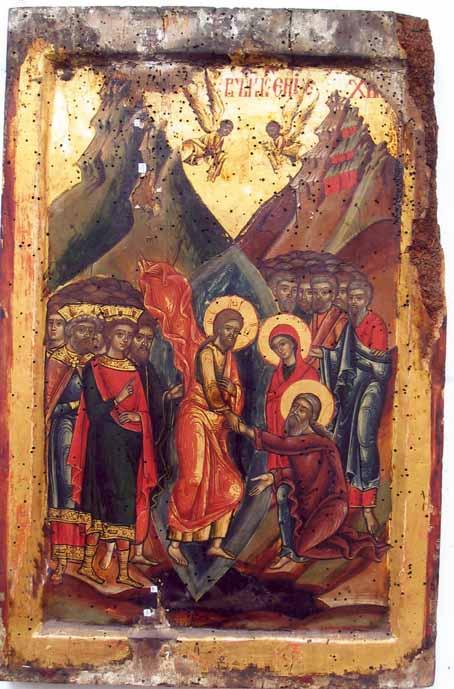 icoană; Învierea Domnului (Anastasis) - Colecţia muzeală a Mănăstirii Hurezi - ROMANII DE JOS (Patrimoniul Cultural National Mobil din Romania. Ordin de clasare: 2365/11.08.2004 - Tezaur)