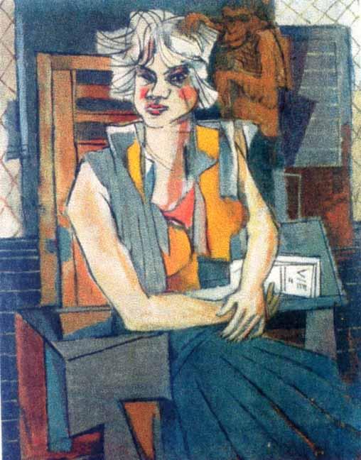 Pictură - Iancu, Marcel; Portret de fată - Muzeul de Artă - CONSTANŢA (Patrimoniul Cultural National Mobil din Romania. Ordin de clasare: 2317/03.07.2004 - Tezaur)
