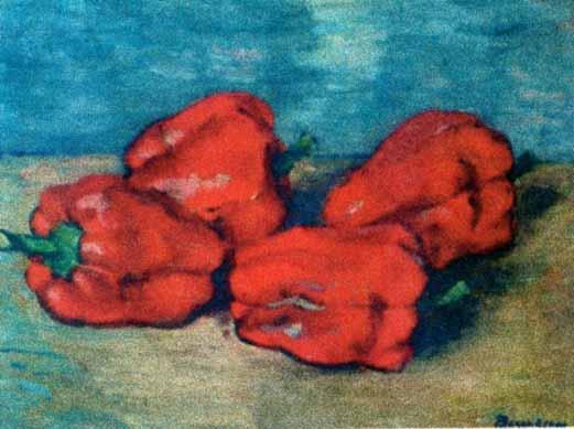Pictură - Bunescu, Marius; Ardei roşii - Muzeul de Artă - CONSTANŢA (Patrimoniul Cultural National Mobil din Romania. Ordin de clasare: 2317/03.07.2004 - Tezaur)