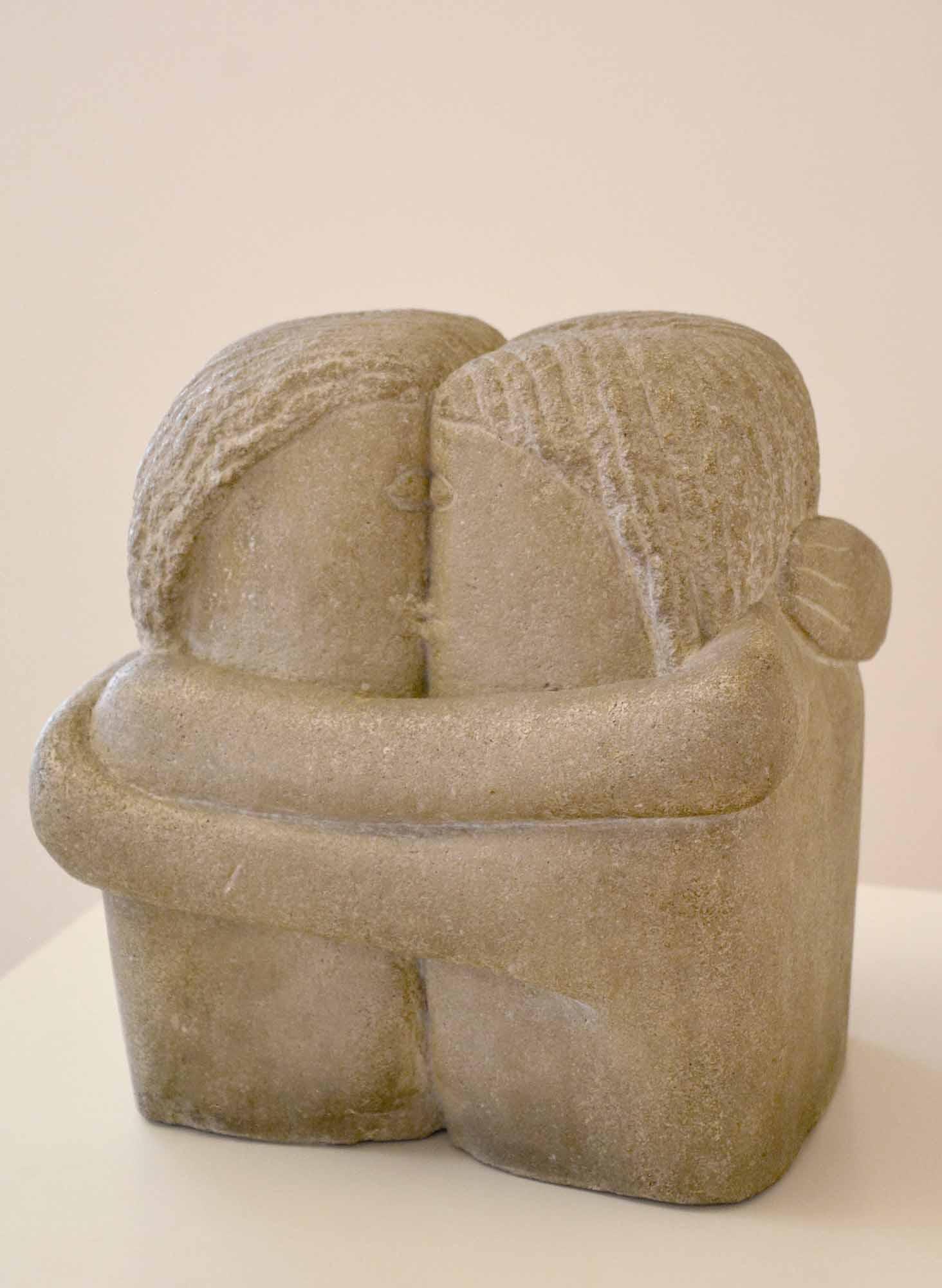 Sculptură - Brâncuşi, Constantin; Sărutul - Muzeul de Artă - CRAIOVA (Patrimoniul Cultural National Mobil din Romania. Ordin de clasare: 2579/05.03.2003 - Tezaur)