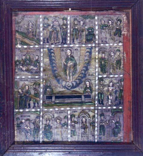 icoană; Învierea cu 12 scene - Colecţii particulare - VRANCEA (Patrimoniul Cultural National Mobil din Romania. Ordin de clasare: 2004/04.01.2006 - Tezaur)