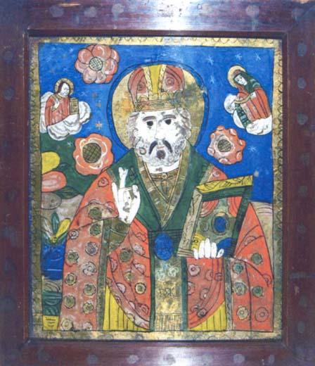 Icoană; Sfântul Nicolae - Colecţii particulare (Patrimoniul Cultural National Mobil din Romania. Ordin de clasare: 2004/04.01.2006 - Tezaur)