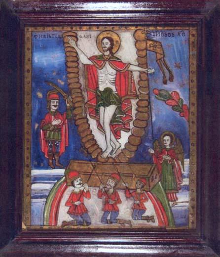 Icoană - Moga, Savu; Învierea - Colecţii particulare (Patrimoniul Cultural National Mobil din Romania. Ordin de clasare: 2004/04.01.2006 - Tezaur)