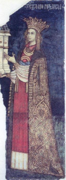 Pictură - Dobromir - zugrav; Doamna Roxanda - Muzeul Naţional de Artă al României - BUCUREŞTI (Patrimoniul Cultural National Mobil din Romania. Ordin de clasare: 2088/02.03.2006 - Tezaur)