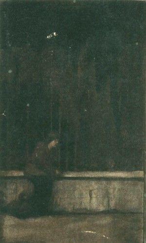 Pictură - Loghi, Kimon; Femeie lângă gard - Muzeul Naţional de Artă al României - BUCUREŞTI (Patrimoniul Cultural National Mobil din Romania. Ordin de clasare: 2528/12.10.2012 - Fond)