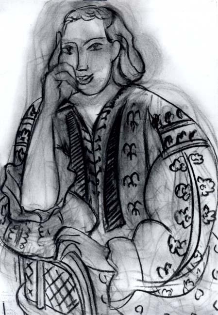 grafică - Matisse, Henri; La blouse roumaine