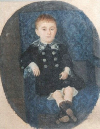 Pictură - Henţia, Sava; Portret de copil pe scaun - Muzeul Naţional de Artă al României - BUCUREŞTI (Patrimoniul Cultural National Mobil din Romania. Ordin de clasare: 2251/22.04.2013 - Fond)