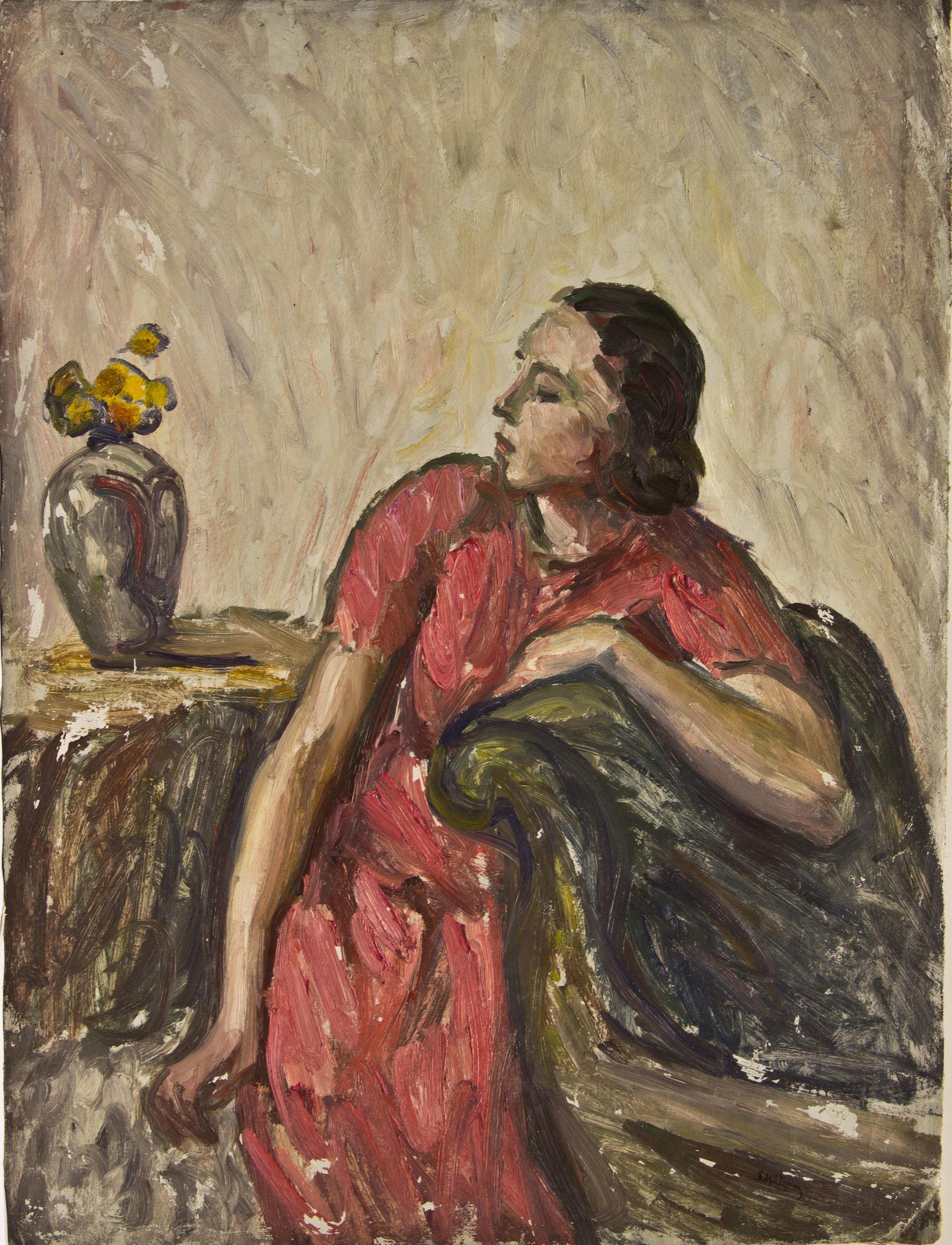 Pictură de şevalet - Mützner, Samuel; Portret  de femeie - Muzeul Naţional de Artă al României - BUCUREŞTI (Patrimoniul Cultural National Mobil din Romania. Ordin de clasare: 3998/09.12.2016 - Fond)