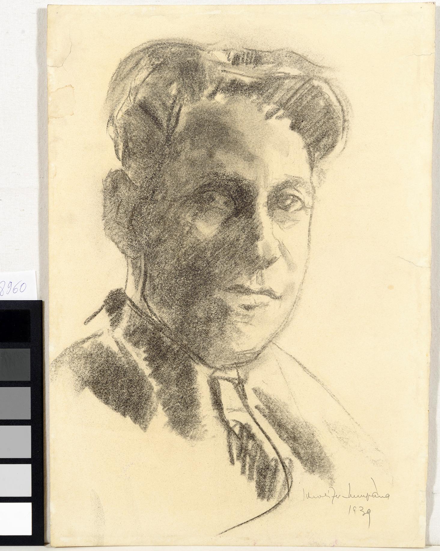 Desen; Schiţă - Schweitzer-Cumpăna, Rudolf; Portret de bărbat - Muzeul Naţional de Artă al României - BUCUREŞTI (Patrimoniul Cultural National Mobil din Romania. Ordin de clasare: 3933/21.11.2016 - Fond)