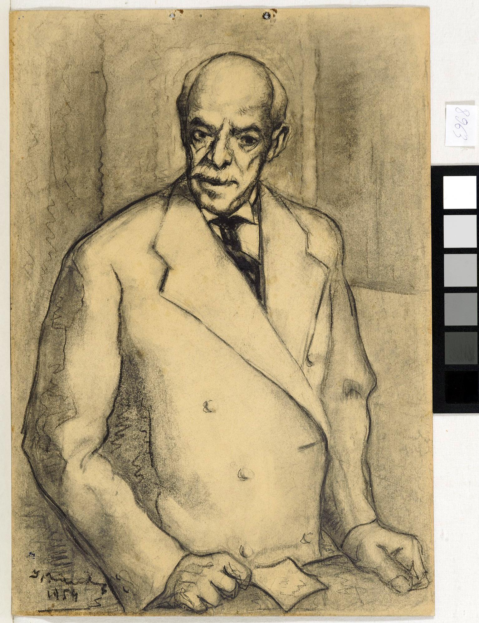 Desen - Mându, Ion; Portret de bărbat (Dr. Marinescu) - Muzeul Naţional de Artă al României - BUCUREŞTI (Patrimoniul Cultural National Mobil din Romania. Ordin de clasare: 3933/21.11.2016 - Fond)