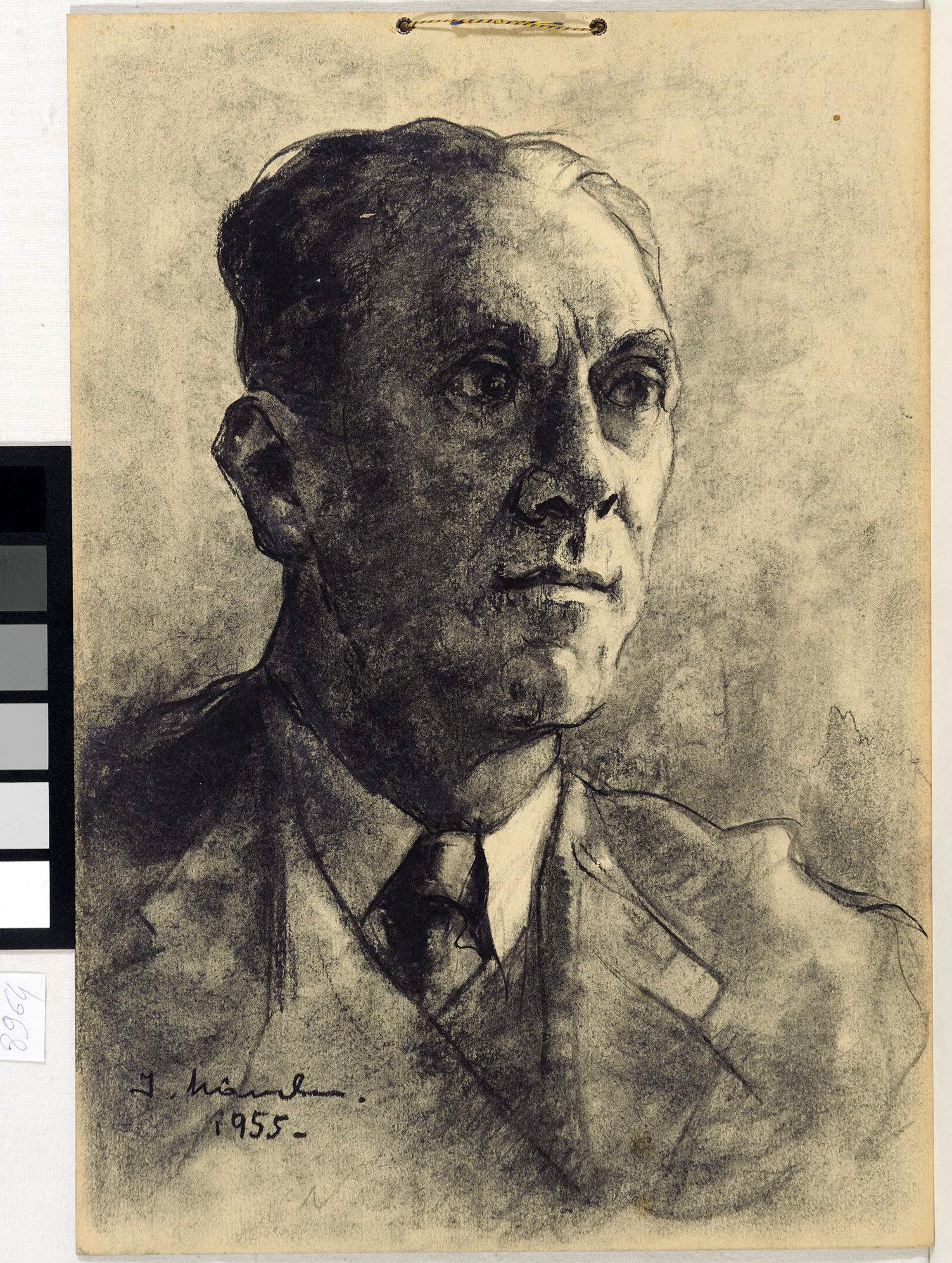 Desen - Mându, Ion; Portret de bărbat - Muzeul Naţional de Artă al României - BUCUREŞTI (Patrimoniul Cultural National Mobil din Romania. Ordin de clasare: 3933/21.11.2016 - Fond)