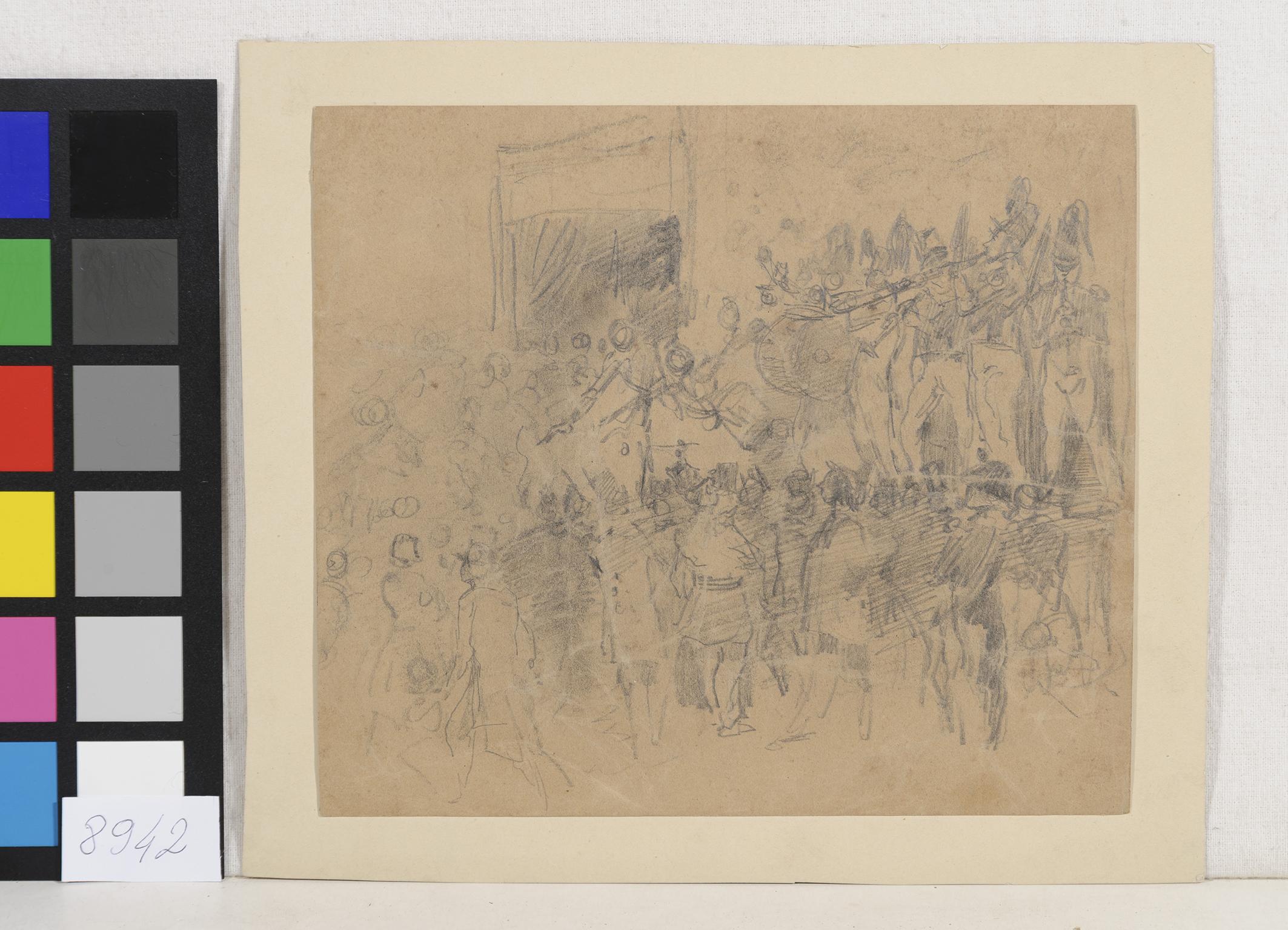 Desen - Anonim; Muzică militară - Muzeul Naţional de Artă al României - BUCUREŞTI (Patrimoniul Cultural National Mobil din Romania. Ordin de clasare: 3933/21.11.2016 - Fond)