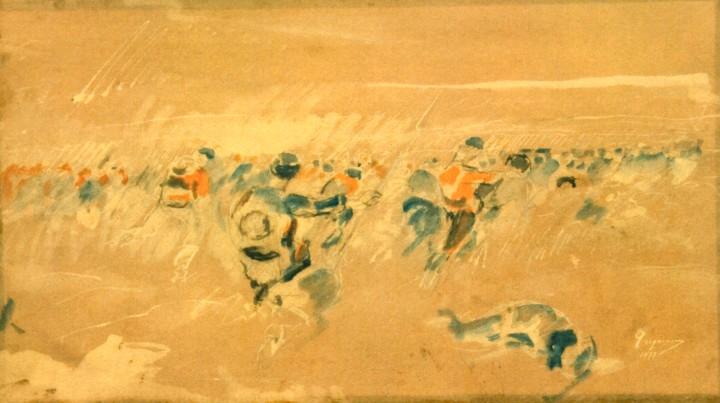 Desen - Grigorescu, Nicolae; Războiul '77 (Smârdan) - Muzeul Naţional de Artă al României - BUCUREŞTI (Patrimoniul Cultural National Mobil din Romania. Ordin de clasare: 2006/11.01.2008 - Tezaur)