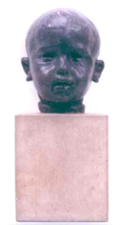 Sculptură - Brâncuşi, Constantin; Cap de copil - Muzeul Naţional de Artă al României - BUCUREŞTI (Patrimoniul Cultural National Mobil din Romania. Ordin de clasare: 3042/14.07.1998 - Tezaur)