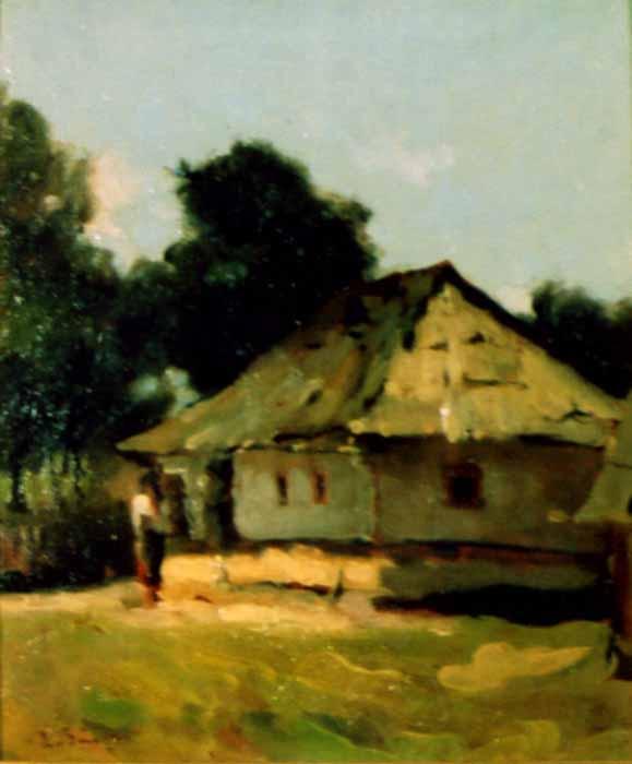 Pictură - Băeşu, Aurel; Casa din Humuleşti - Muzeul Naţional Cotroceni - BUCUREŞTI (Patrimoniul Cultural National Mobil din Romania. Ordin de clasare: 2803/16.12.2004 - Tezaur)