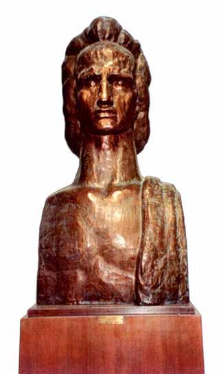 sculptură - Medrea, Cornel; Mihai Eminescu - Academia Română - BUCUREŞTI (Patrimoniul Cultural National Mobil din Romania. Ordin de clasare: 2240/29.04.2004 - Tezaur)