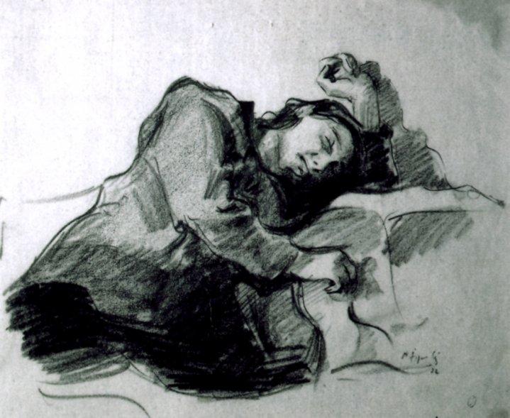 desen - Jiquidi, Aurel; Femeie dormind